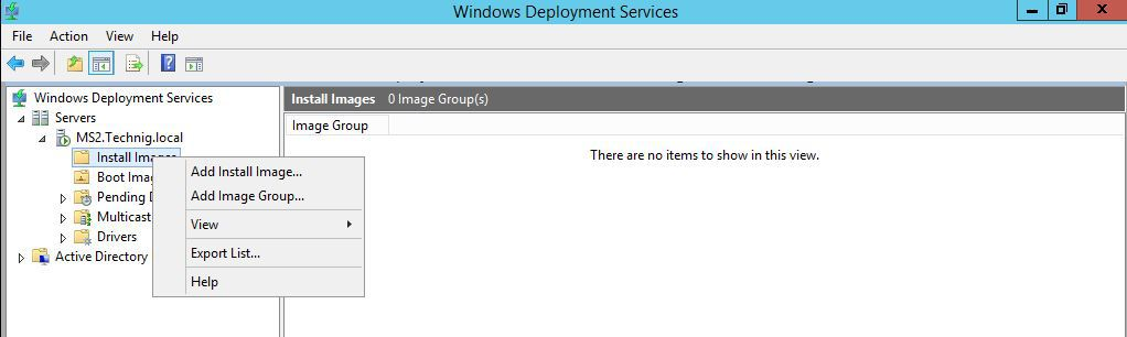 Add Install Image - Windows Deployment Services