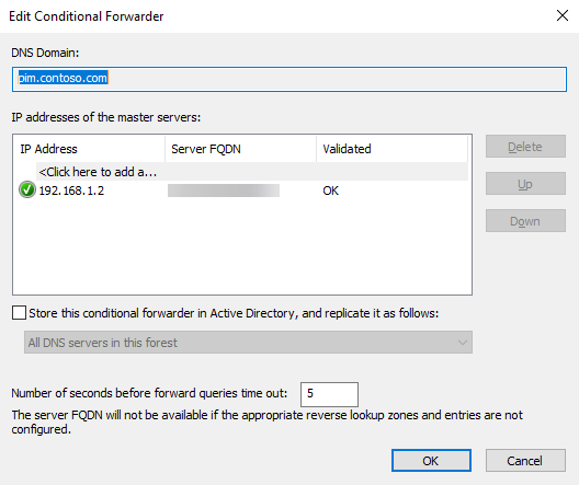 Configure a DNS conditional forwarder in Windows Server 2016 (Image Credit: Russell Smith)