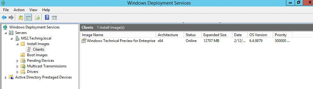 Deploy Windows 10 with Windows Deployment Services