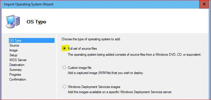 Operating System Type for MDT