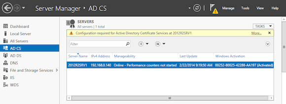 Install Active Directory Certificate Authority AD CS